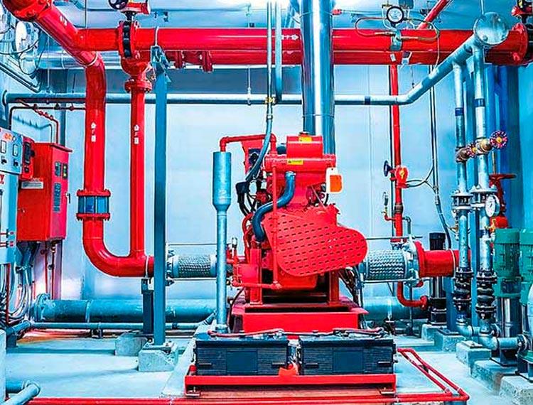 sistema de red de agua contra incendios en lima peru airson ingenieros